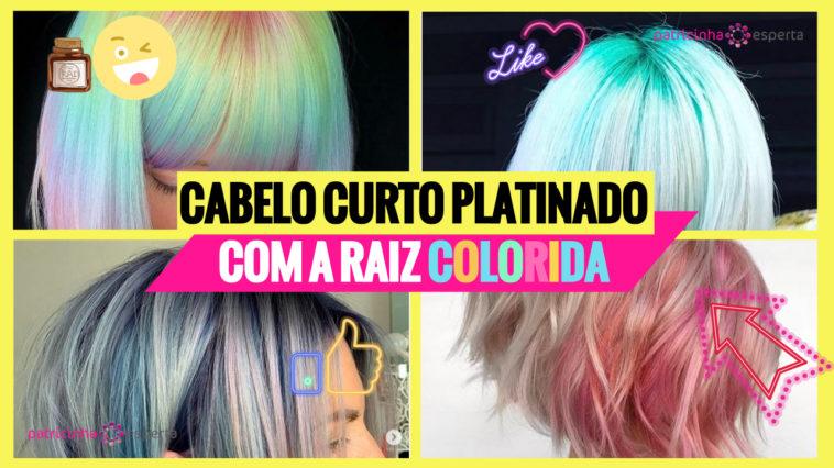 cabelo curto platinado com raiz colorido 1 758x426 - Cabelo Curto Platinado com Raiz Colorida - 50 fotos para te inspirar + dicas