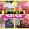 cabelo rosa dourado1 105x105 - Cabelo Rosa Dourado: Como Ter com Coloração Passo A Passo